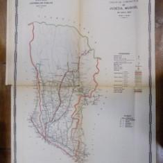 Harta cailor de comunicatie din Judetul Muscel 1915 - Harta Romaniei