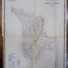 Harta cailor de comunicatie din Judetul Tutova 1916 - Harta Romaniei
