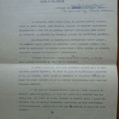 General Olteanu, Evocarea insurectiei din August 1944 si foto Petru Groza, 1945 - Autograf