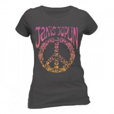 Tricou Fete Janis Joplin - Peace Symbol