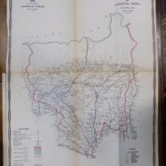 Harta cailor de comunicatie din Judetul Gorj 1915 - Harta Romaniei