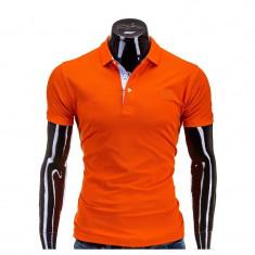 Tricou polo barbati S594 Portocaliu - Tricou barbati, Marime: S, M, L, XL, Culoare: Orange, Maneca scurta, Bumbac