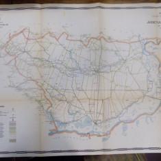 Harta cailor de comunicatie din Judetul Ialomita 1915 - Harta Romaniei