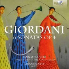 T. Giordani - 6 Sonatas Op.4 ( 1 CD ) - Muzica Clasica