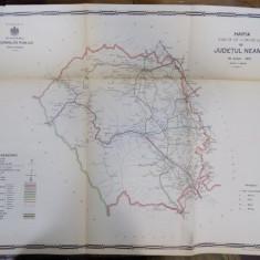 Harta cailor de comunicatie din Judetul Neamt 1915 - Harta Romaniei