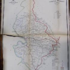 Harta cailor de comunicatie din Judetul Mehedinti 1915 - Harta Romaniei