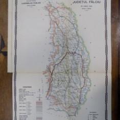 Harta cailor de comunicatie din Judetul Falciu 1915 - Harta Romaniei