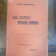 Les dances populaire roumaines, G. N. Varone Bucuresti 1933 - Carte veche
