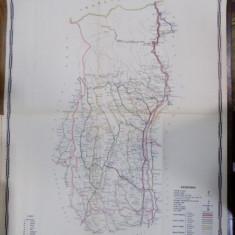 Harta cailor de comunicatie din Judetul Valcea 1916 - Harta Romaniei