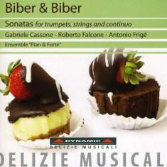 H.I.F./C.H.Biber Biber - Sonaten f r Trompete, Streicher und Continuo ( 1 CD ) - Muzica Clasica