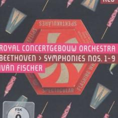 L Van Beethoven - Symphonies 1-9 ( 3 BLU-RAY )