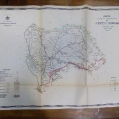 Harta cailor de comunicatie din Judetul Dorohoi anul 1915 - Harta Romaniei