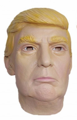 Masca realista Donald Trump - bal mascat - party - cadou - petrecere - carnaval foto