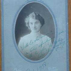 Foto pe carton gros , Galati , 1914 , autograf din 1938