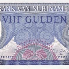 Bancnota Suriname 5 Gulden 1963 - P120 UNC - bancnota america