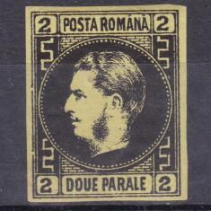 1867 - Carol I - Favoriti - 2 parale - hartie subtire - MNH