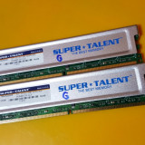 Kit 2GB DDR2 Desktop,1GBx2,Brand Super Talent,800Mhz,PC2-6400,CL5,Radiator(G)