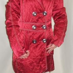 Jacheta rafinata, de culoare rosie cu cusaturi albe JA-2460-AL (Culoare: ROSU, Marime: 38) - Jacheta dama
