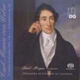 C.M. von Weber - Clarinet Concertos 1 & 2 ( 1 SACD )