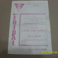 Program CFR Cluj - UTA - Program meci