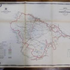 Harta cailor de comunicatie din Judetul Ramnicu Sarat 1915 - Harta Romaniei
