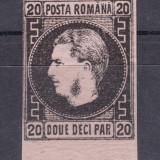 1867 - Carol I - Favoriti - 20 parale - hartie roz subtire - nestampilat, Regi