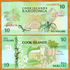 Cook Islands 10 dolari 1992 UNC !!