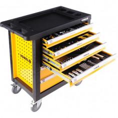 Dulap cu scule Vorel echipat complet cu 6 sertare 177 piese 58540 - Dulap scule Service