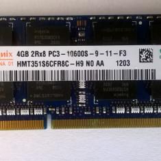 Ram laptop Hynix 4GB 10600 DDR3 1333Mhz HMT351S6CFR8C-H9 PC 1.5V Sodimm - Memorie RAM laptop