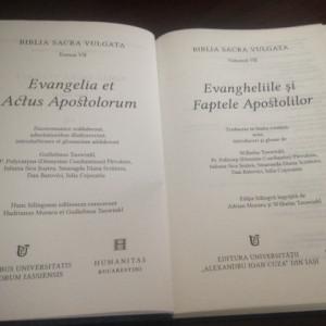 BIBLIA SACRA VULGATA. EVANGHELIILE SI FAPTELE APOSTOLILOR, EDITIE BILINGVA