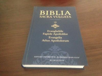 BIBLIA SACRA VULGATA. EVANGHELIILE SI FAPTELE APOSTOLILOR, EDITIE BILINGVA foto