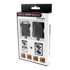Convertor VGA + audio la HDMI Full HD 1080P