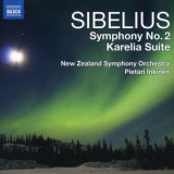 J. Sibelius - Symphony No.2/ Karelia Sui ( 1 CD ) - Muzica Clasica