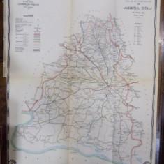 Harta cailor de comunicatie din Judetul Dolj anul 1915 - Harta Romaniei