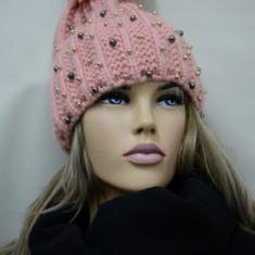 Caciula calduroasa de toamna, iarna, model tineresc d nuata roz (Culoare: ROZ) - Caciula Dama