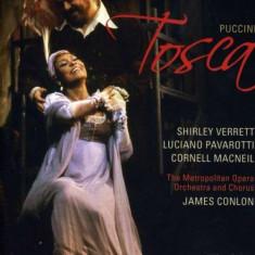 Shirley Verrett, Luciano Pavarotti, Cornell Macneil and The Metropolitan Opera & Orchestra - Puccini - Tosca ( 1 DVD ) - Muzica Opera