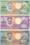 Bancnota Suriname 25, 100, 250 Gulden 1986/88 - P132-134 UNC ( set 3 bancnote )