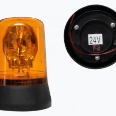 Girofar auto BestAutoVest 24V orange cu bec H1 si fixare cu suruburi