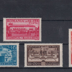 ROMANIA 1944, LP 163 , CAMINUL CULTURAL  RADASENI  SERIE MNH