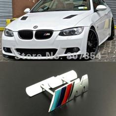 EMBLEMA BMW M GRILA FATA metalica cu sistem antifurt - Embleme auto