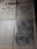 Ziarul romania libera 7 martie 1977-foto si art. de la cutremurul din 4 martie