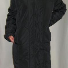 Jacheta moderna, de culoare negru, gri cu blanita (Culoare: NEGRU, Marime: 42) - Jacheta dama