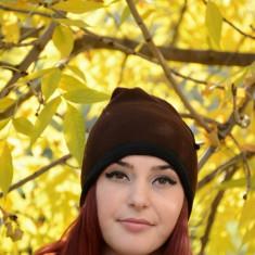 Caciula deosebita culoare maro cu paspoal negru, de toamna-iarna (Culoare: MARO-NEGRU) - Caciula Dama