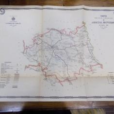 Harta cailor de comunicatie din Judetul Botosani in anul 1915 - Harta Romaniei