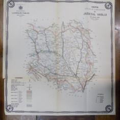 Harta cailor de comunicatie din Judetul Vaslui 1916 - Harta Romaniei