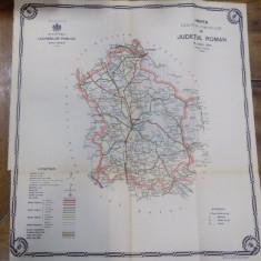 Harta cailor de comunicatie din Judetul Roman1916 - Harta Romaniei