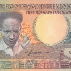 Bancnota Suriname 250 Gulden 1988 - P134 UNC - bancnota america