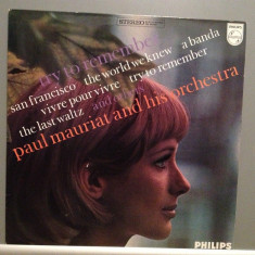 PAUL MAURIAT & ORCHESTRA - TRY TO REMEMBER (1967/PHILIPS REC/RFG) - Vinil (NM) - Muzica Pop universal records