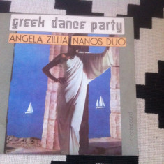 ANGELA ZILLIA NANOS DUO GREEK DANCE PARTY DISC VINYL LP Muzica Pop electrecord USOARA, VINIL