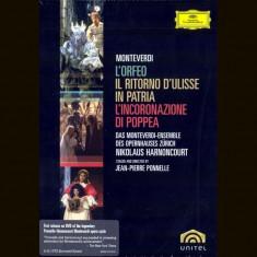 Nikolaus Harnoncourt - Monteverdi Opera ( 3 DVD ) - Muzica Opera